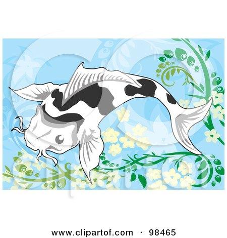 Royalty-Free (RF) Clipart Illustration of a Swimming Koi Fish - 2 by mayawizard101