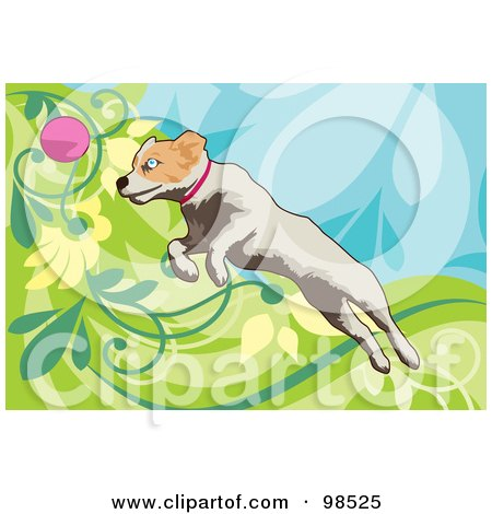Royalty-Free (RF) Clipart Illustration of a Dog Fetching A Ball - 3 by mayawizard101