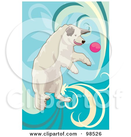 Royalty-Free (RF) Clipart Illustration of a Dog Fetching A Ball - 2 by mayawizard101