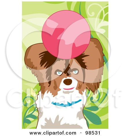 Royalty-Free (RF) Clipart Illustration of a Dog Fetching A Ball - 4 by mayawizard101