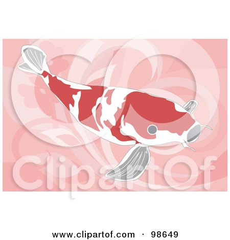 Royalty-Free (RF) Clipart Illustration of a Swimming Koi Fish - 8 by mayawizard101