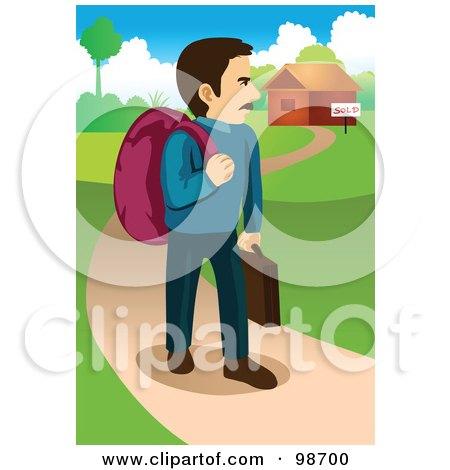 royaltyfree rf clipart illustration of a confused man