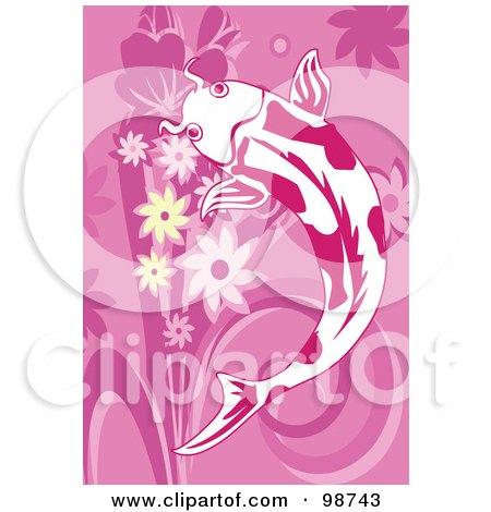Royalty-Free (RF) Clipart Illustration of a Swimming Koi Fish - 7 by mayawizard101
