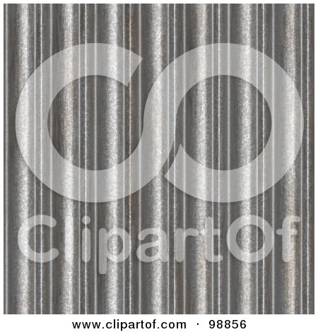 Royalty-Free (RF) Clipart Illustration of a Seamless Background Of Corrugated Silver by Arena Creative