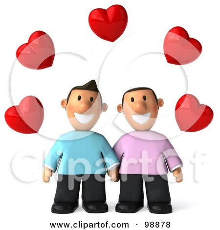 cute animated pictures of couples holding hands from behind.