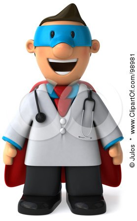 Royalty Free Rf Super Doctor Clipart Illustrations