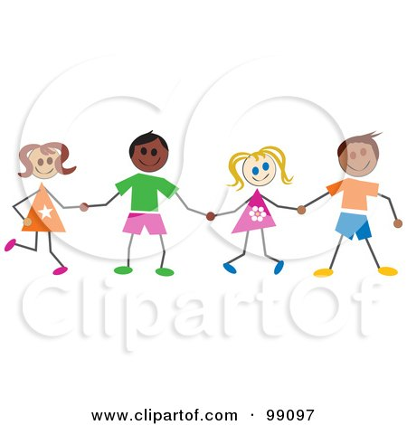 Friends Holding Hands Clipart - More information