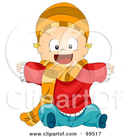 Baby Clothing Wall  on 99517 Baby Boy Wearing Winter Clothing Poster Art Print Jpg
