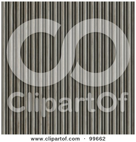 Royalty-Free (RF) Clipart Illustration of a Seamless, Rusty, Corrugated Metal Texture Background by Arena Creative