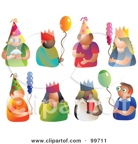 Royalty-Free (RF) Clipart Illustration of a Digital Collage Of Party Men And Women by Prawny