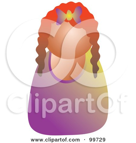 Royalty-Free (RF) Clipart Illustration of a Red Haired Girl Avatar by Prawny