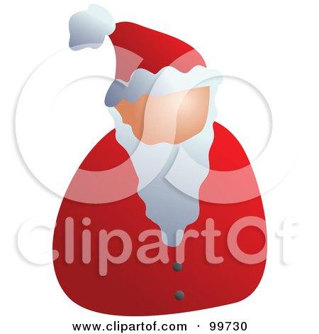 Royalty-Free (RF) Clipart Illustration of a Faceless Santa Avatar by Prawny