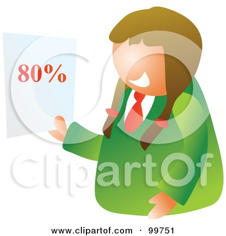 Royalty-Free (RF) Clipart Illustration of a Happy School Girl Holding A Graded Paper by Prawny