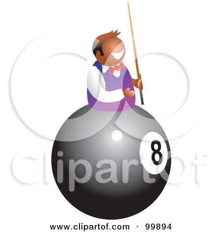 Royalty-Free (RF) Clipart Illustration of a Man On An Eightball by Prawny