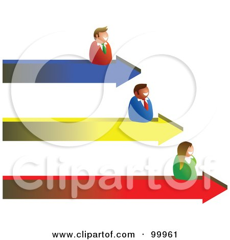 Royalty-Free (RF) Clipart Illustration of a Business Team On Arrow ...