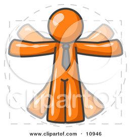 تقسيم السوق market segmentation 10946_man_in_motion_orange_vitruvian_cartoon_man