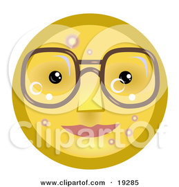 POISONOUS TO DOGS 19285_four_eyed_yellow_smiley_face_wearing_glasses