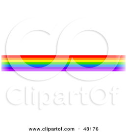 Royalty-Free (RF) Clipart Illustration of a Border Of Rainbow Lines
