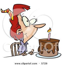 تهنئة بمناسبة عيد ميلاد الاخت 5729_birthday_woman_with_candle_on_a_birthday_cake.jpg