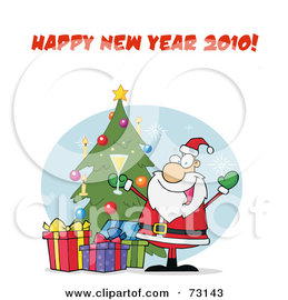 Santa Emoticon for New Year and Happy New Year 2010 Wishes