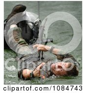 Soldier During A Mountaineer Training Course Free Stock Photography