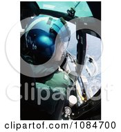 Soldier Flying A Helicopter Free Stock Photography