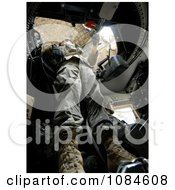 Soldier Securing His Turret During A Mounted Patrol Through Baghdad Iraq Free Stock Photography by JVPD