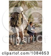 Soldier With An Iraqi Child Free Stock Photography