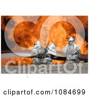 Soldiers Fighting A Fire Free Stock Photography
