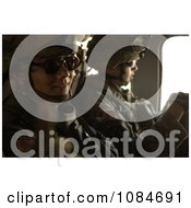 Soldiers In A Helicopter Free Stock Photography