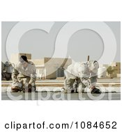 Soldiers Smoothing Cement Free Stock Photography