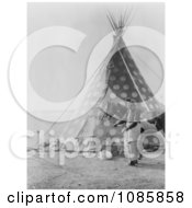 Spotted Blackfoot Indian Tipi Free Historical Stock Photography