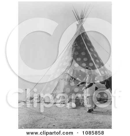 Spotted Blackfoot Indian Tipi - Free Historical Stock Photography by JVPD