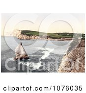 Stag Rock In Freshwater Bay On The Isle Of Wight England Royalty Free Stock Photography by JVPD