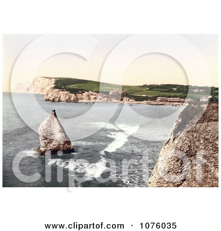 Stag Rock in Freshwater Bay on the Isle of Wight England - Royalty Free Stock Photography  by JVPD