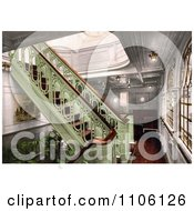 Staircase On The Konig Albert North German Lloyd Royal Mail Steamers Royalty Free Historical Stock Photo by JVPD