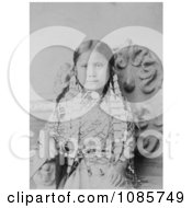 Standing Holy Daughter Of Sitting Bull Free Historical Stock Photography by JVPD