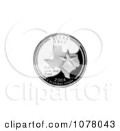 Star On The Texas State Quarter Royalty Free Stock Photography by JVPD