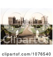 Statues In The East Terrace Gardens Of Windsor Castle Berkshire England Royalty Free Stock Photography