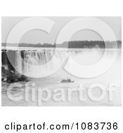 Steamboat In The Mist At The Bottom Of Horseshoe Falls Niagara Falls Royalty Free Historical Stock Photography