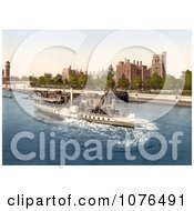 Steamboat On The River Thames Passing The Lambeth Palace In London England Royalty Free Stock Photography