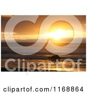 Stock Photo Of A Gold Beach Oregon Sunset In Orange Tones Royalty Free Nature Photography by Jamers