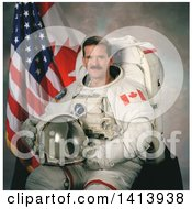 Stock Photo Of Astronaut Chris A Hadfield Mission Specialist For The STS 100 Shuttle Mission Of The Canadian Space Agency January 2001