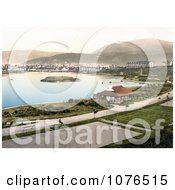 Tennis Courts And Hotels Around The Mooragh Park Lake In Ramsey Isle Of Man England Royalty Free Stock Photography