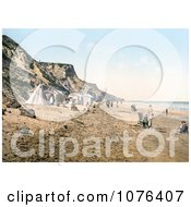 Tents And People On The Beach In Overstrand Norfolk England Royalty Free Stock Photography
