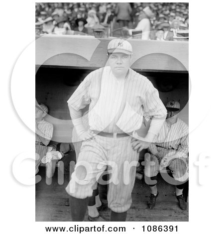 The Babe in Uniform - Free Historical Baseball Stock Photography by JVPD