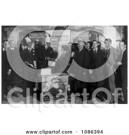 The Babe Selling Tubercular Christmans Seals - Free Historical Baseball Stock Photography by JVPD