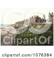 The Beach And Buildings Along The North Parade Promenade In Southwell Dorset England UK Royalty Free Stock Photography