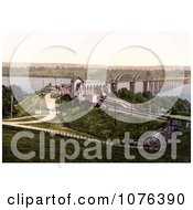 The Bridge Over The River Severn In Sharpness Gloucestershire England Royalty Free Stock Photography