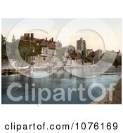 The Church College And Archbishops Palace On The River Medway In Maidstone Kent England UK Royalty Free Stock Photography
